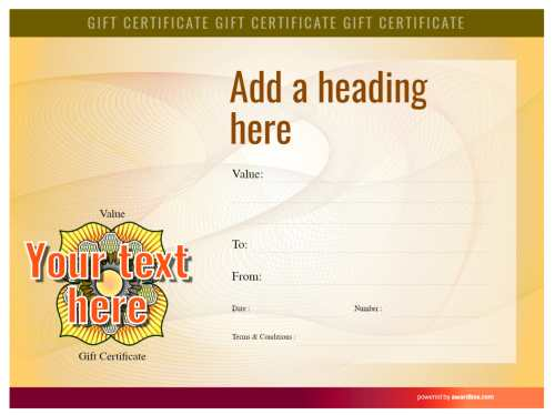free spa gift certificate fully editable template with security style background for free home or commercial print