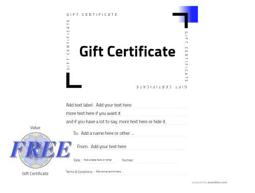 simple gift certificate template for customizing free to download and print for home and commercial use