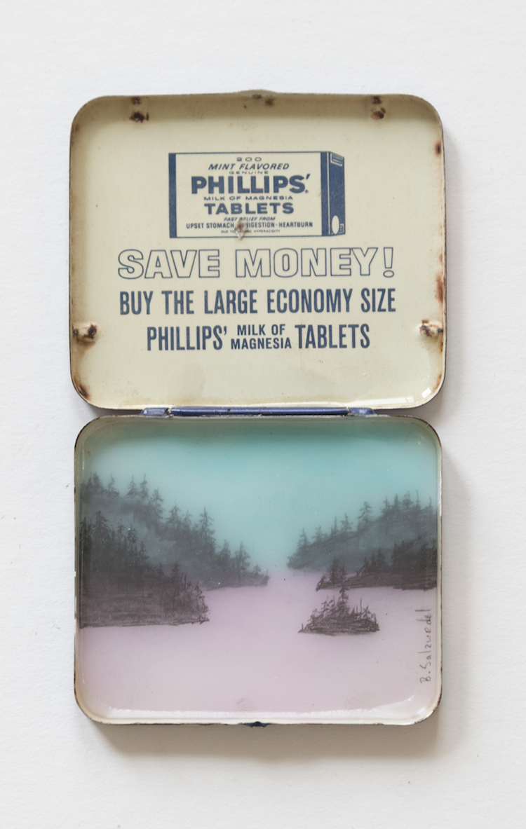 Pink Lake Save Money Tin