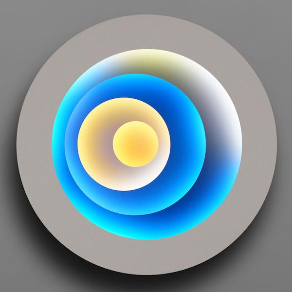 Offset Circles - Starry Night