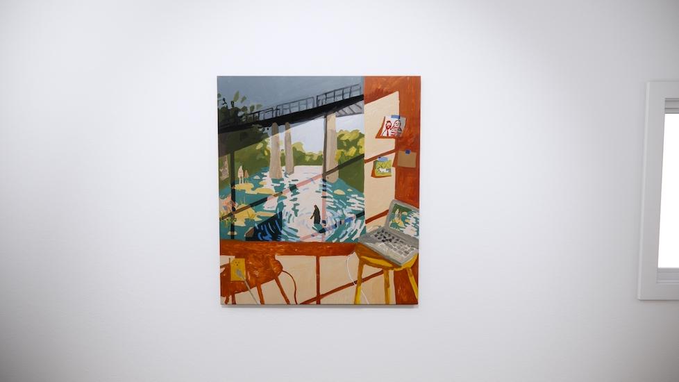 Install Still 24, Self Aware Landscape Painting