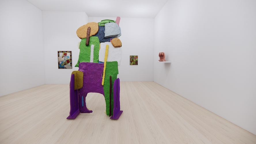 Cyclopean Giant, Locorotondo Flea Market, Sturtevant in Green (Bread and Roses), Untitled (Roses) // Install Shot 8
