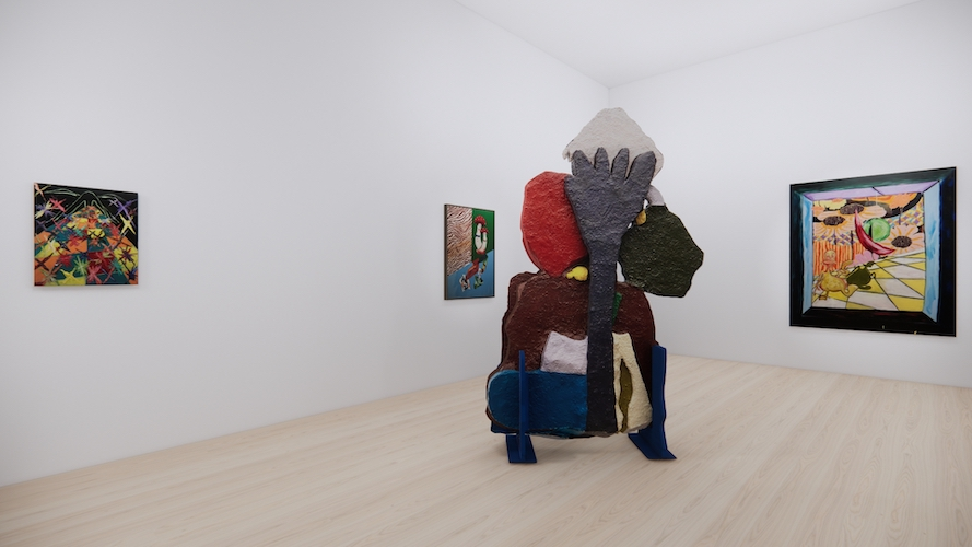 Bluets, The French Can't Draw, Libido Couple on Holiday, Giacometti's Suspended Ball (Uh Oh, Oh No) // Install Shot 29