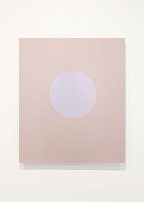 Cercle (taupe, violet, magenta), un jour