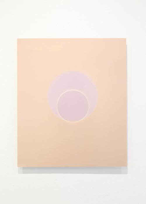 Deux cercles (pêche et violet), 116