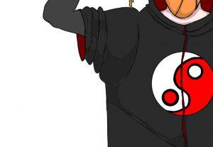Eu vou fazer um desenho seu com tema de anime ou cartoon.