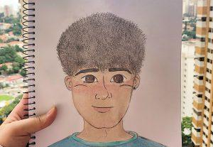 Faço desenhos em aquarela!