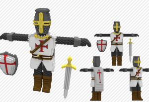 Criarei seus modelos 3D em Voxel Art!