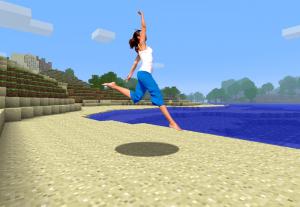 Coloco fundo de Minecraft na tua foto :)