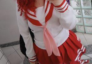 Te mando um pack de fotos com o tema colegial (Lucky Star) ♡