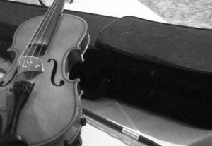 Toco uma música de violino pra você