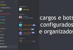 Irei criar/configurar um servidor no discord!