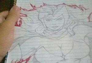 Desenho qualquer personagem de anime ou cartoon.