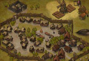 Eu vou desenhar um mapa medieval
