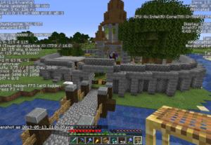 Eu vou construir no seu mapa de Minecraft