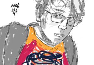 Eu vou desenhar qualquer coisa ou pessoa que você pedir no meu estilo.