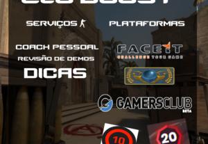 Eloboost e Coach para CSGO, GamersClub, faceit e MM