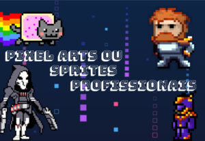 Eu vou fazer pixel arts ou sprites profissionais pra você!!