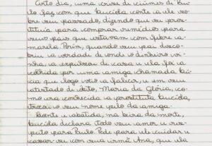 Transcrevo texto a mão para digitação no word