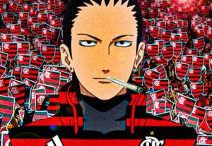 Vou tentar editar qualquer anime com uma camisa de time que voce querer