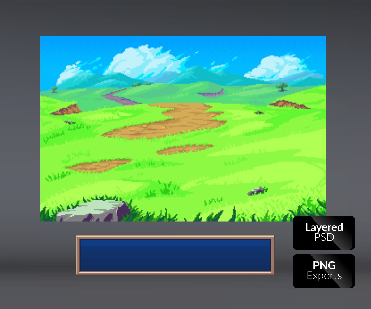 Battle Background Sunny Hills 2d Game Art