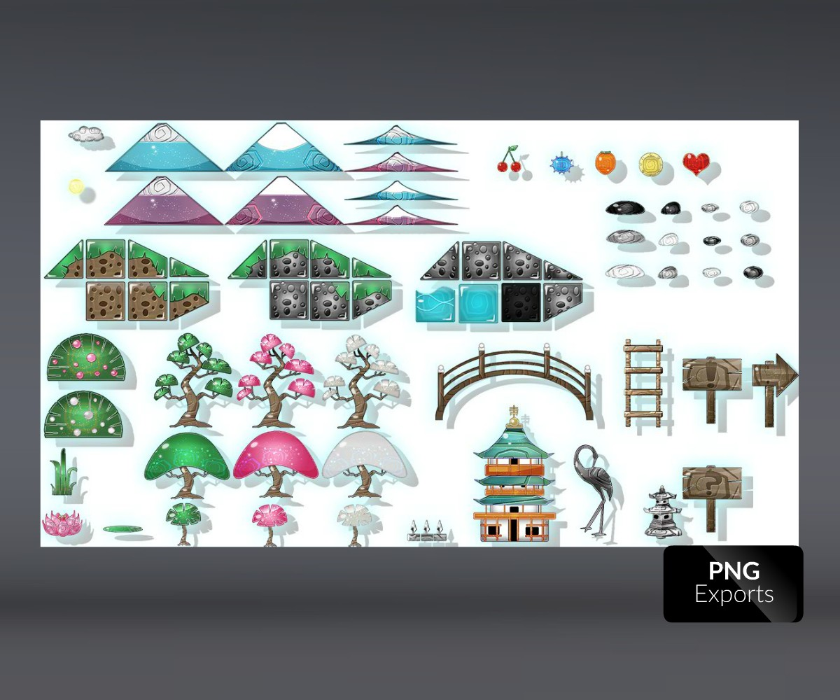 Japanese Garden Game Art