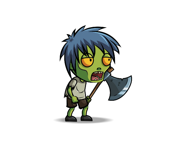 Anime Zombie Royalty Free Game Art