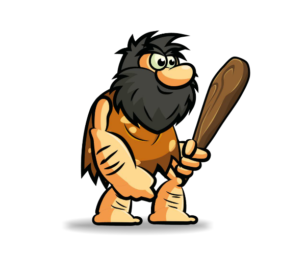 Cave Man Bob Royalty Free Game Art