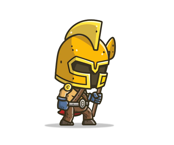 Chibi Knight 4 Royalty Free Game Art