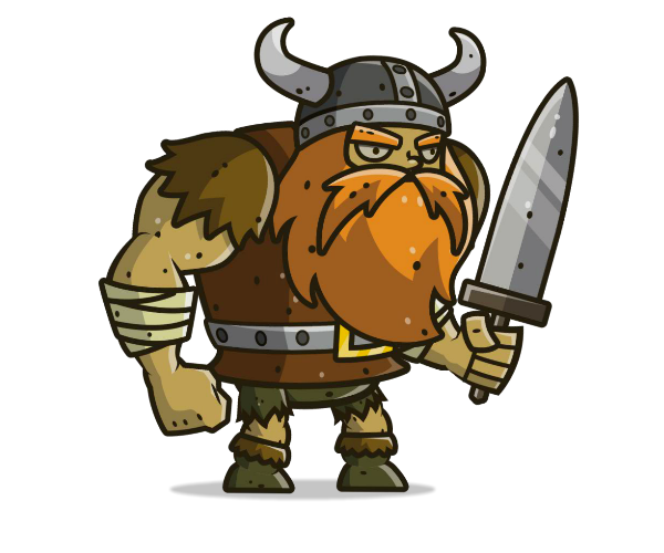 Muscular Viking Royalty Free Game Art