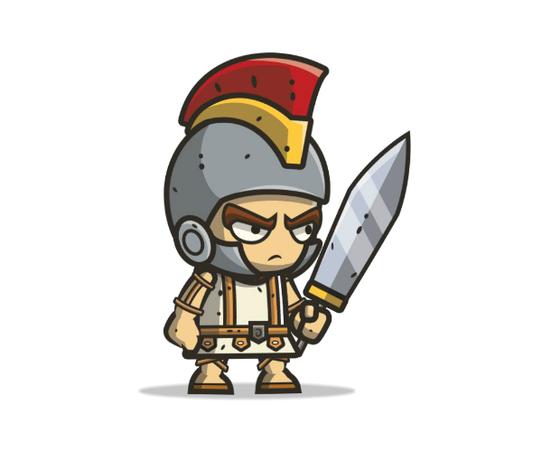 Roman Knight Royalty Free Game Art