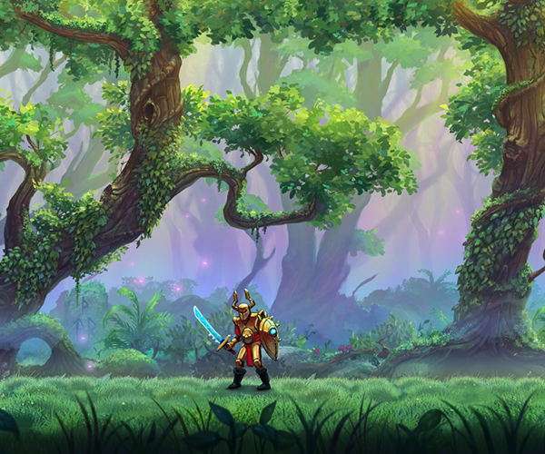 Parallax Forest Background