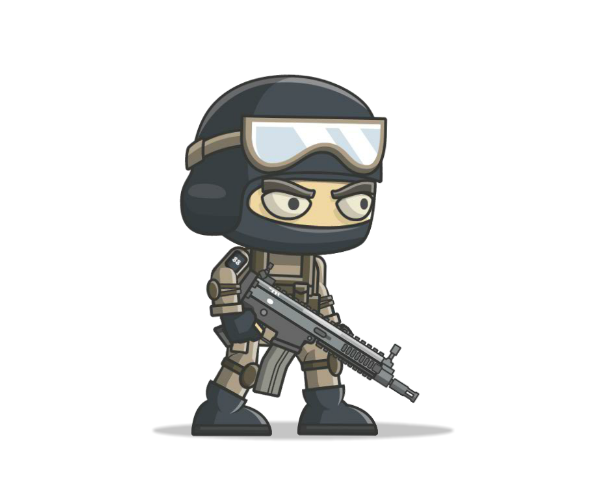 royalty free game art commando thumbnail0003