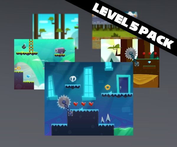 Platform Level Bundle 5 pack of game art
