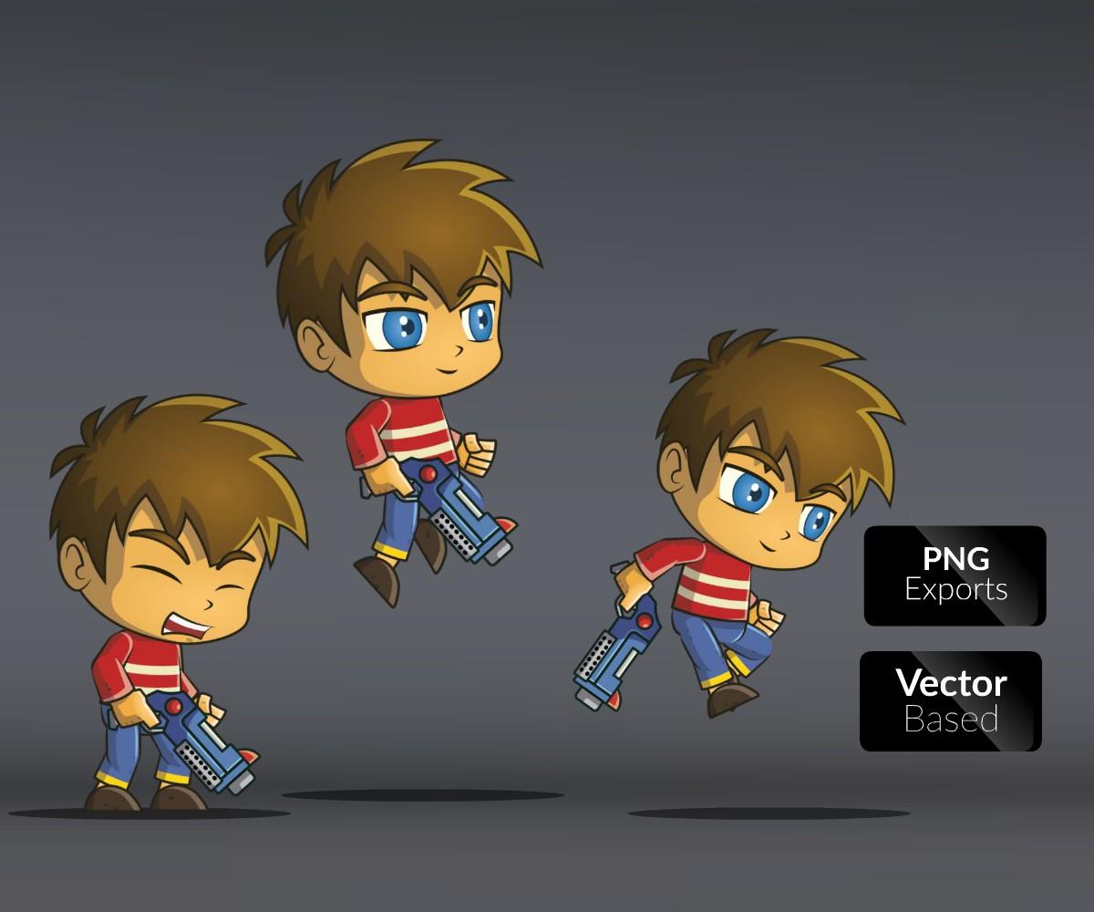Ray-Gun Boy | Game Art Partners