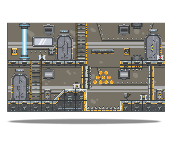 spaceship platform art for side scroller games