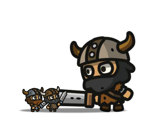 tiny viking characters royalty free game art