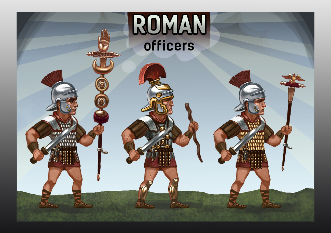 Roman Officers Royalty Free Game Art
