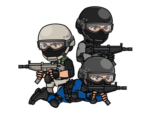 Police Swat Officer Game Art Partners