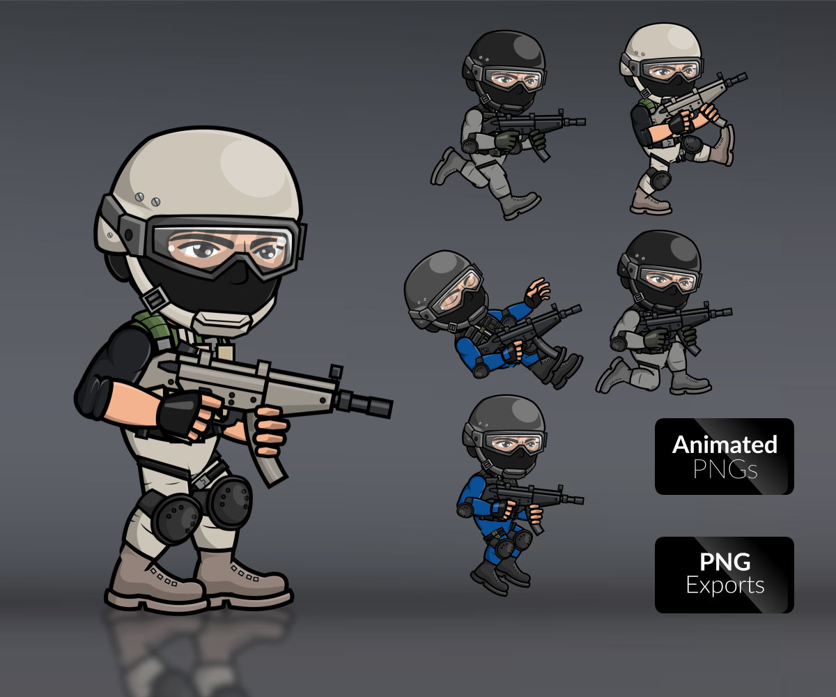 Royalty Free Swat team characters