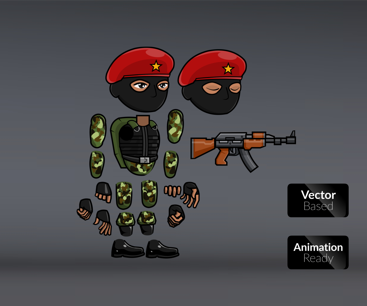 Guerrilla Fighters Royalty Free Game ARt