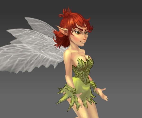 royalty free fairy game art character