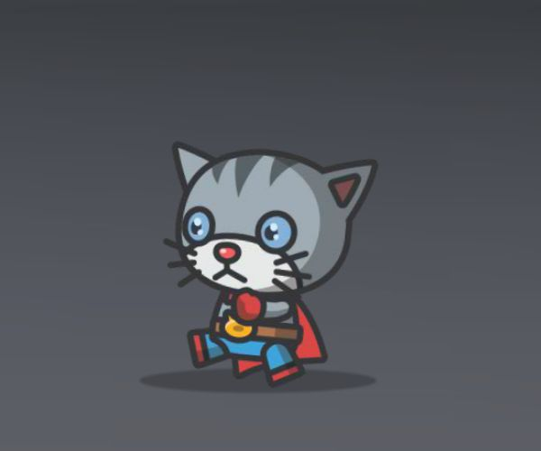 super cute cat characters royalty free game art