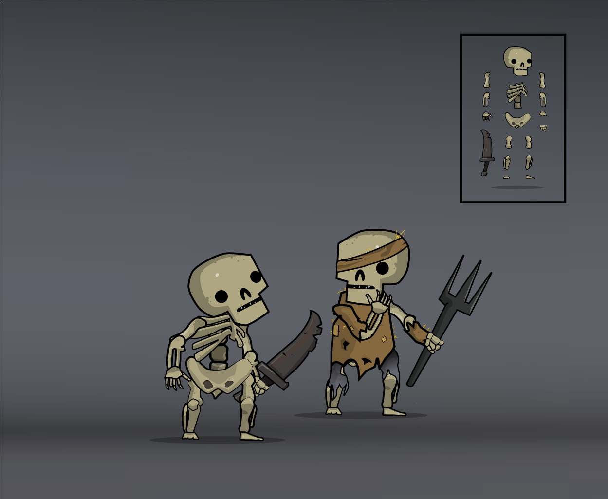 skeleton army basic and peasant