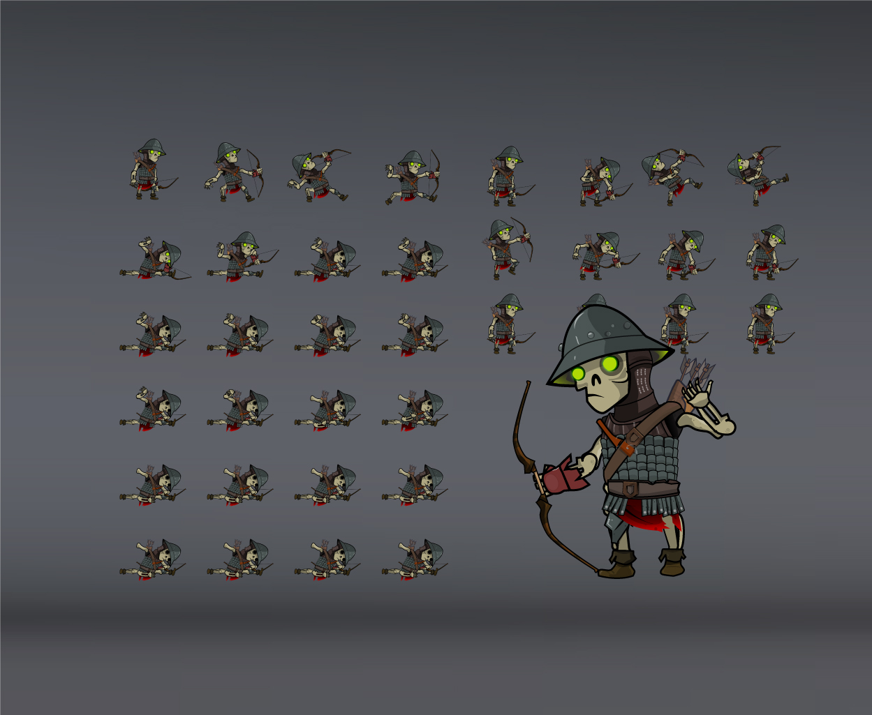 skeleton army spritesheets