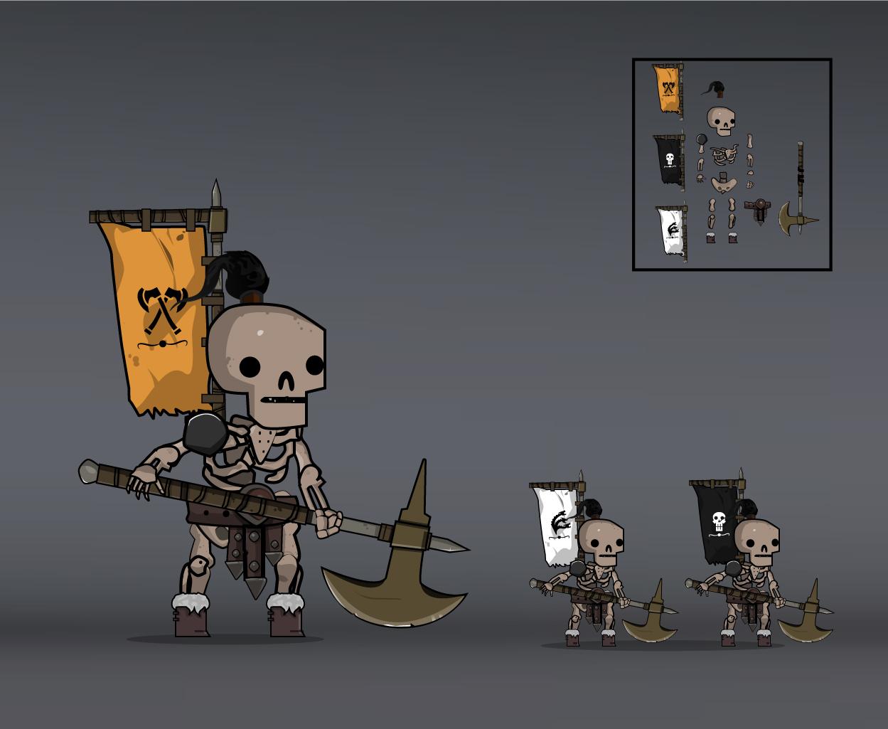 skeleton army barbarian