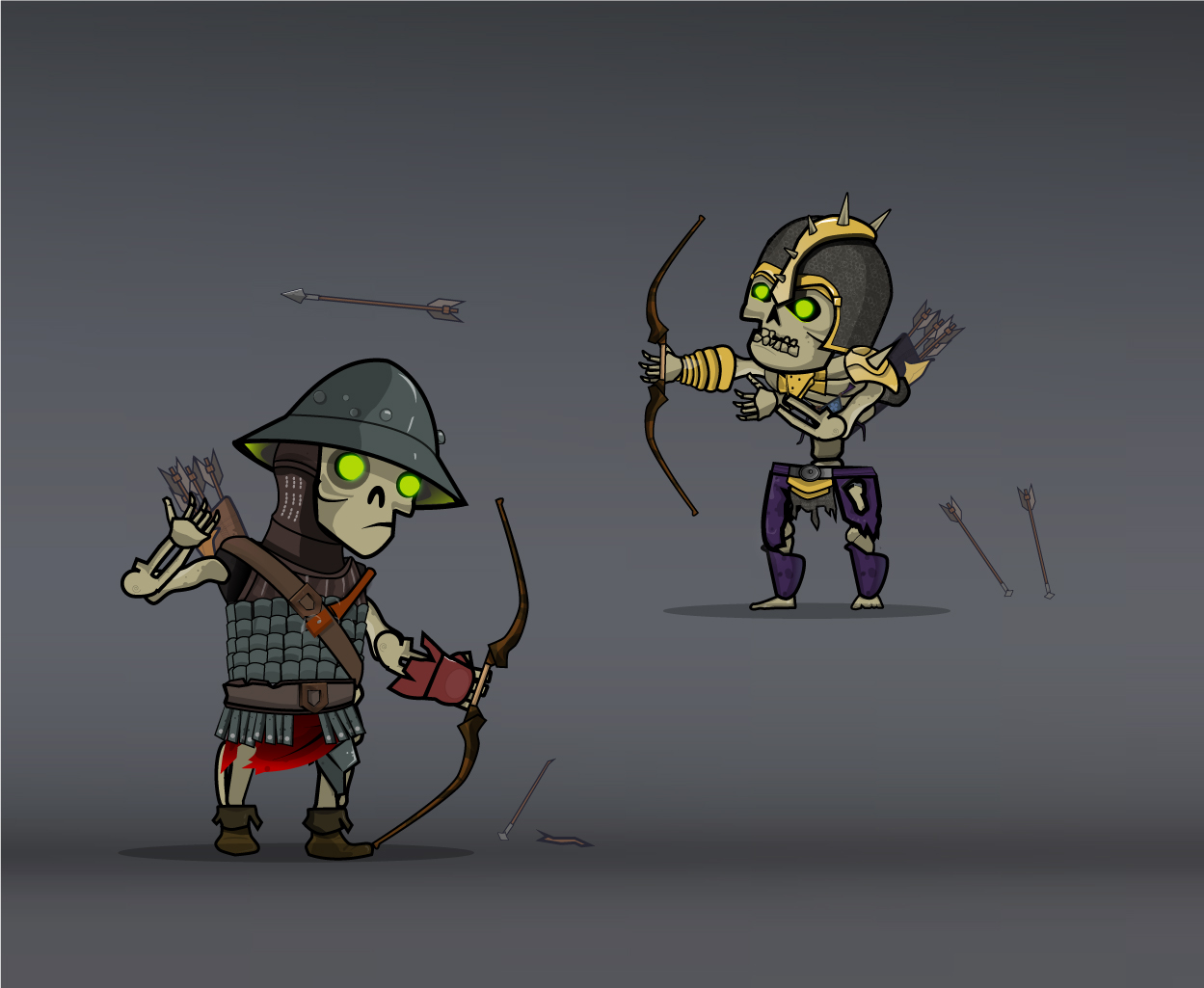 skeleton army archer and sharpshooter