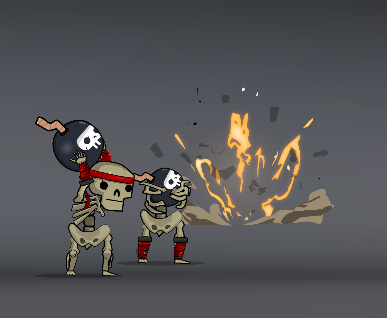 skeleton army kamikaze bombers