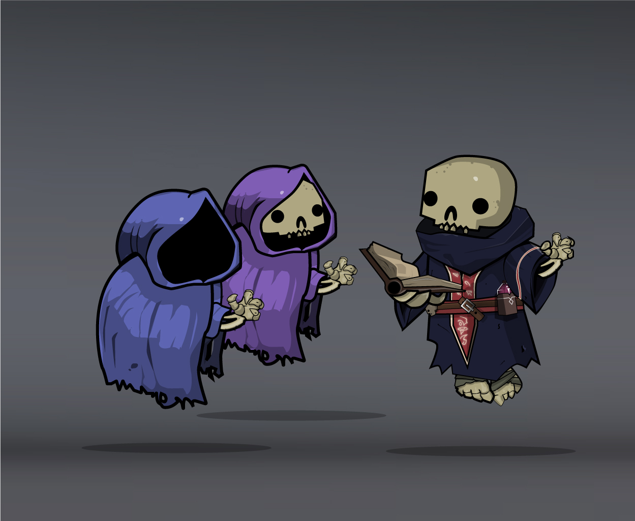 skeleton army mage and wizards
