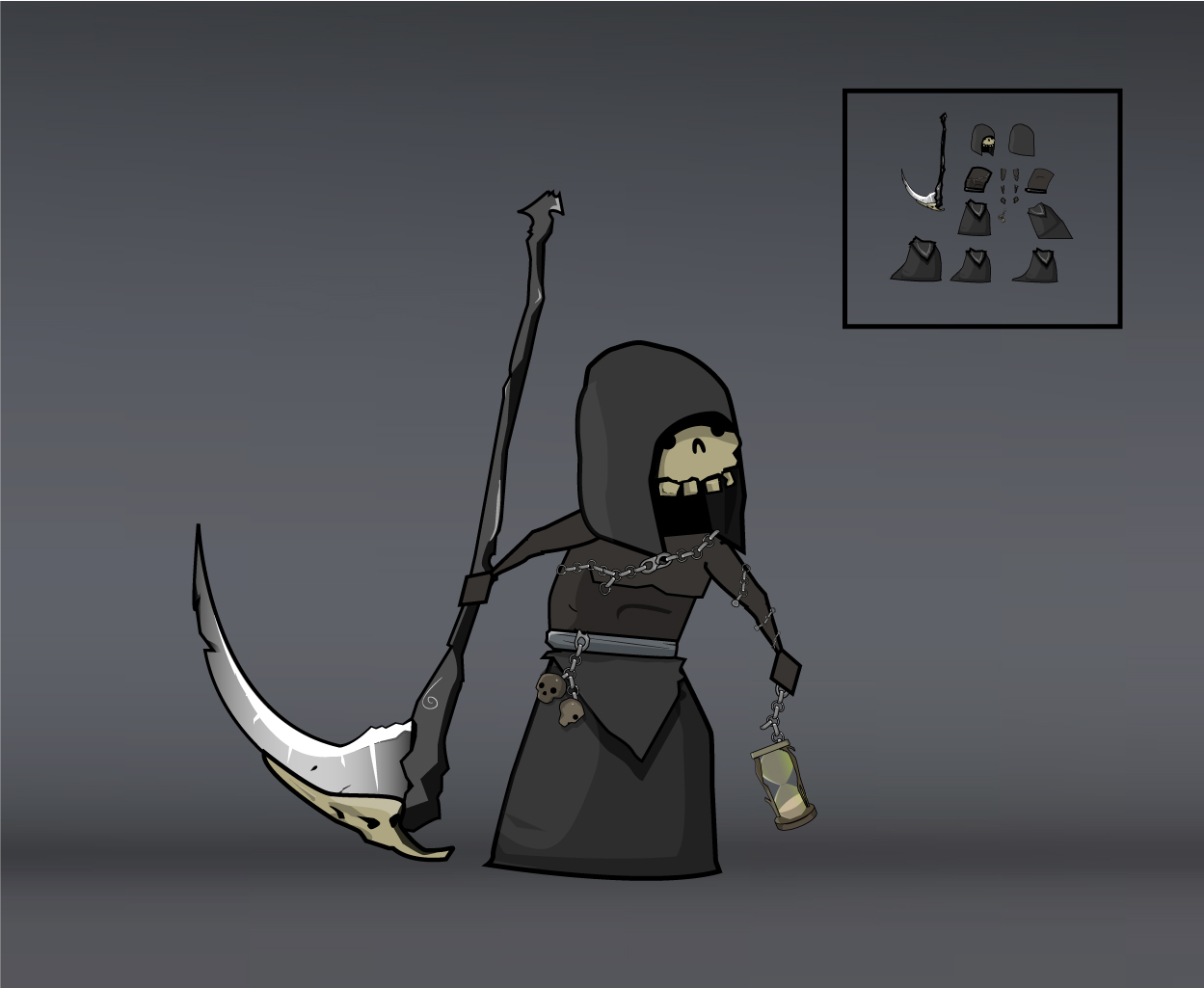 skeleton army grim reaper